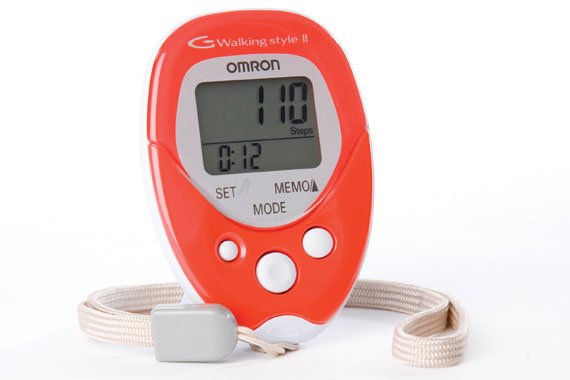 Omron HJ 113 E Walking Style II Step Counter Red