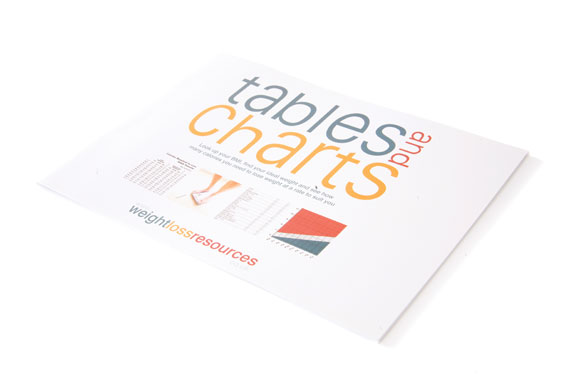 Weight Loss Resources Table & Charts Booklet
