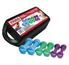 York Vinyl Dumbbells – 10kg Weight Set Thumbnail