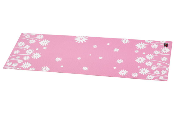 Body Sculpture Yoga Mat Pink Flowers 1