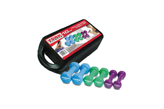 York Vinyl Dumbbells – 10kg Weight Set
